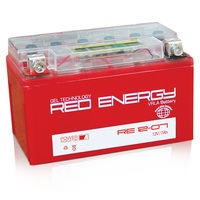 Аккумулятор 7А Red Energy RE12-07 (YTX7A-BS)